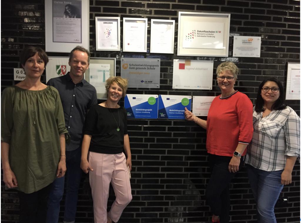 Teilnehmer der Leitaktion 1-Maßnahme von Juli 2017 bis Juni 2019:  Kristina Angelis-Harmening, Christian Schwarz, Katja Ezel, Christina Gellert, Nida Bal  (Alexa Schulte, nicht im Bild)