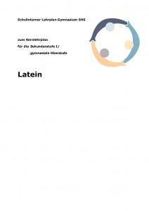 SchulintCurrSHS Latein Deckblatt